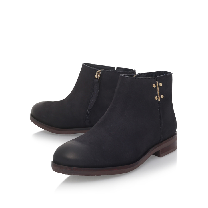 59f5f30b2 Berry 8n Navy Flat Ankle Boots By Tommy Hilfiger