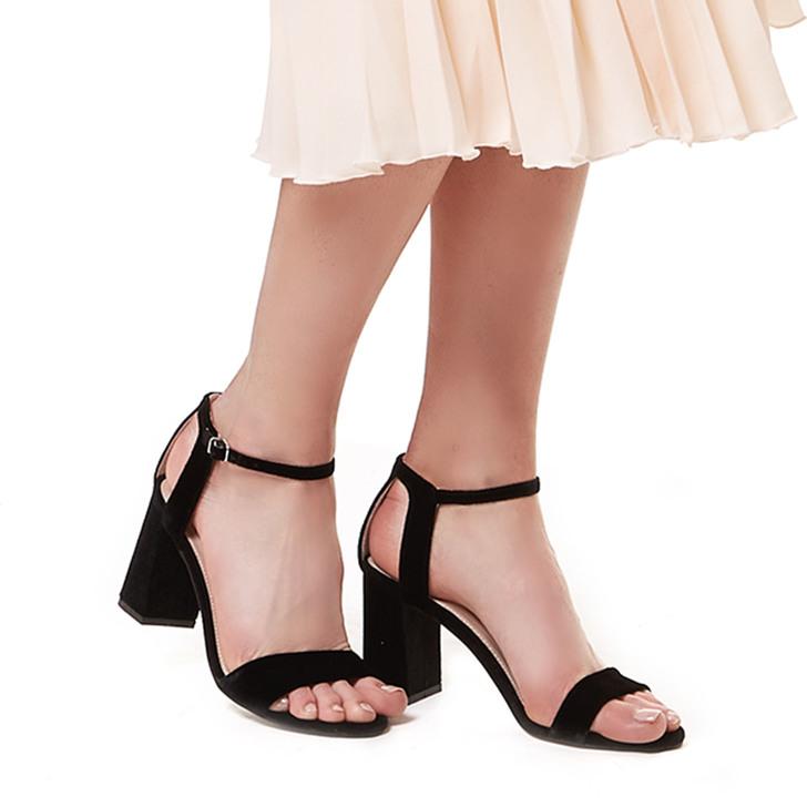 54449ea74db Gigi Black Mid Heel Sandals By Carvela
