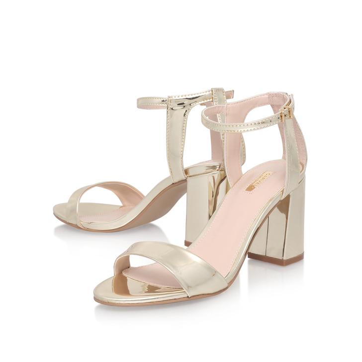 CARVELA Gigi glitter heeled sandals Gold - T6575