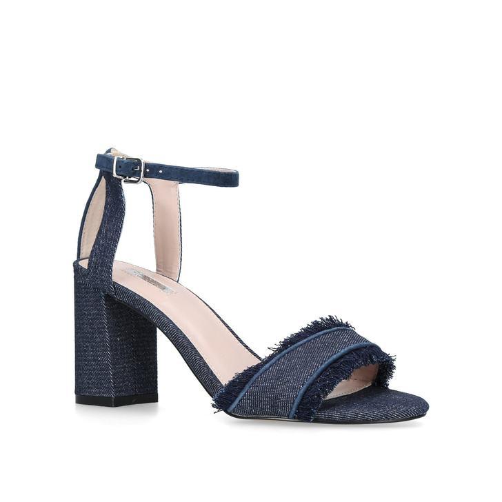c9f0558ed4e Gigi Denim Mid Heel Sandals By Carvela