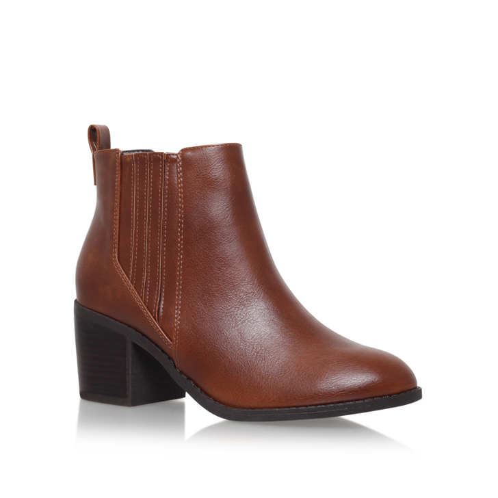 Cheap Miss Kg Tan Taurus Heeled Ankle Boots for Women Sale Online