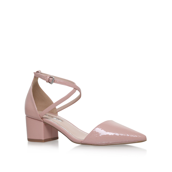 Ava Nude Mid Heel Court Shoes By Miss KG | Kurt Geiger