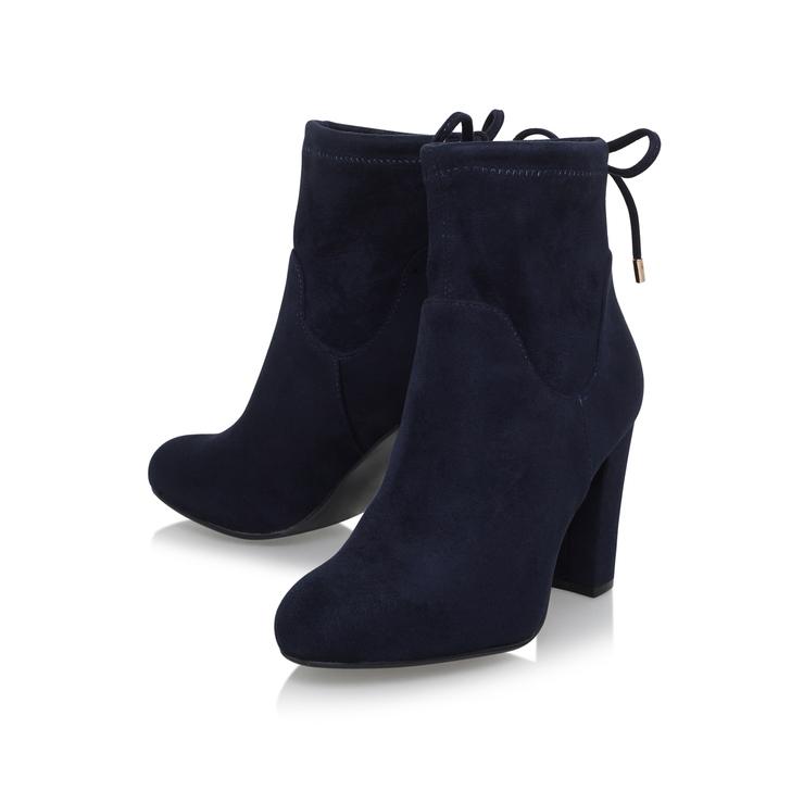 kurt geiger navy ankle boots
