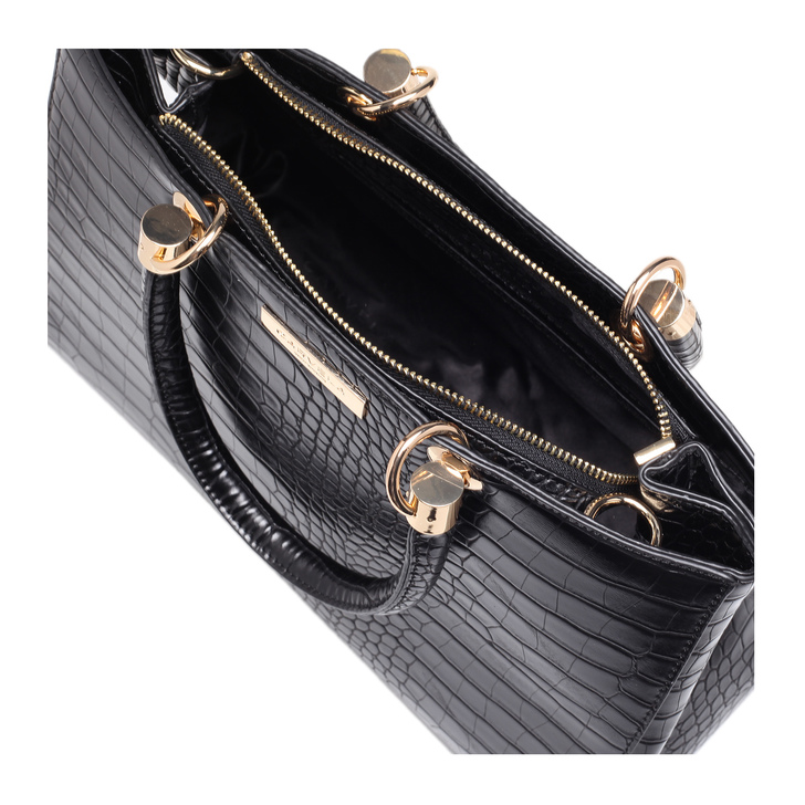 de9bcf758560 Darla Croc Tote Black Tote Bag By Carvela