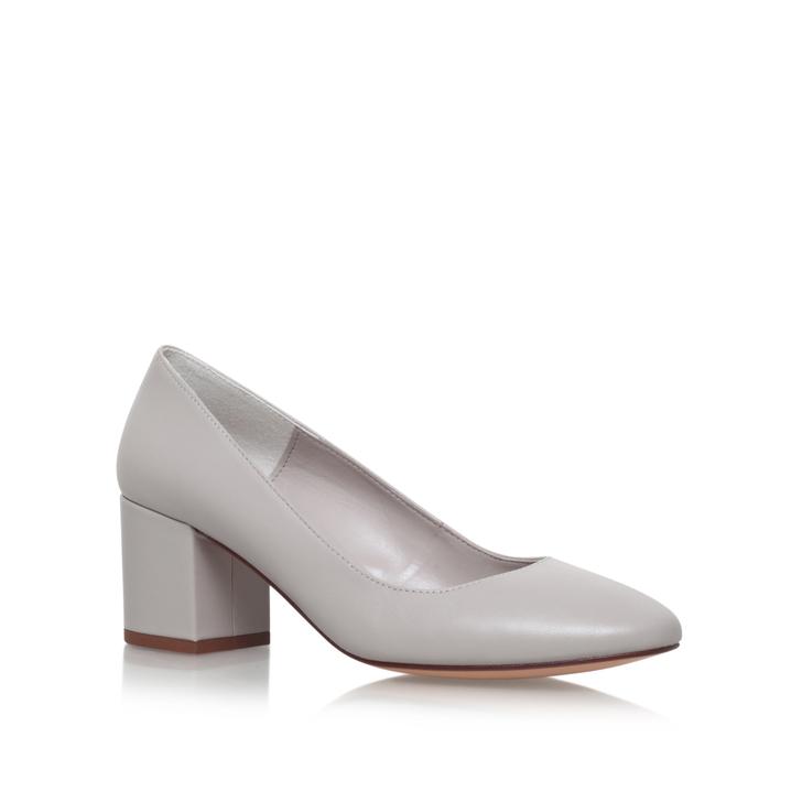 Light Grey Mid Heel Shoes