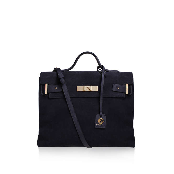 Kurt Geiger Suede britt tote - navy tote bag Free Shipping Low Cost Clearance Store Online jw0bs7oa2
