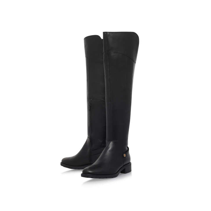 Vivian Black Low Heel Knee Boots By Carvela Comfort | Kurt Geiger