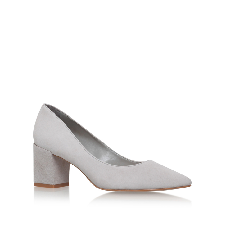 0f68e29ad0aa2 Allowed Grey Mid Heel Court Shoes By Carvela | Kurt Geiger