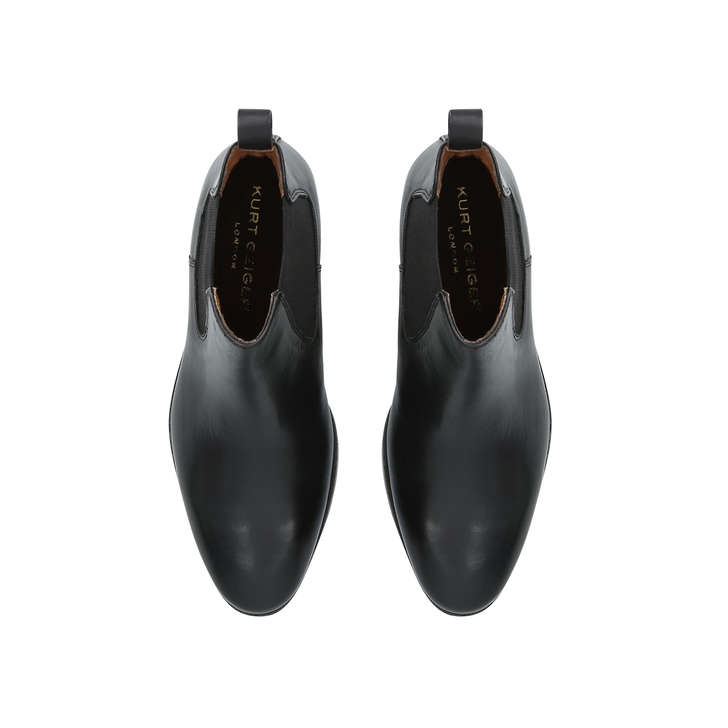 Dalby Black Leather Chelsea Boots By Kurt Geiger London