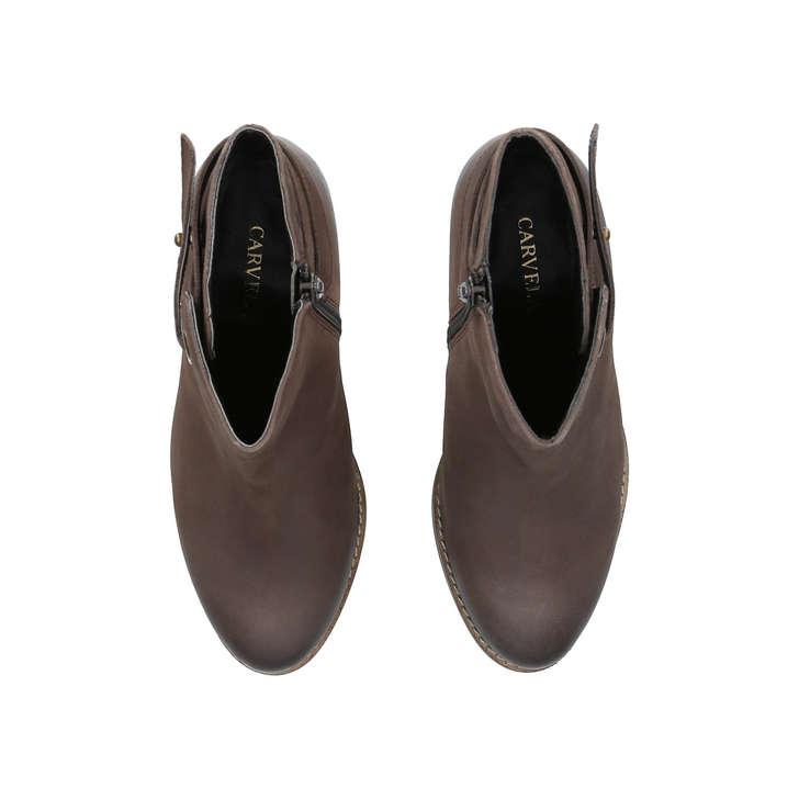 3fe5a69d07c Smart Brown Block Heel Ankle Boots By Carvela | Kurt Geiger