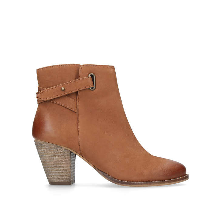 be1c3bb0cd9 Smart Tan Leather Block Heel Ankle Boots By Carvela | Kurt Geiger