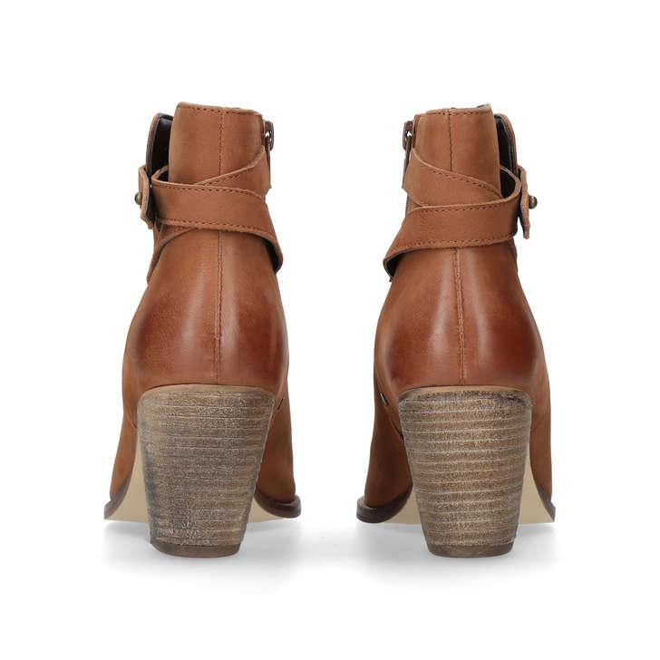 98656bc3977b5 Smart Tan Leather Block Heel Ankle Boots By Carvela | Kurt Geiger
