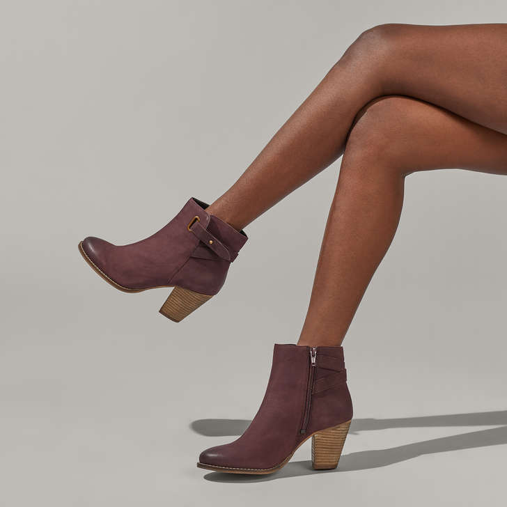 78cf4f871598 Smart Wine Block Heel Ankle Boots By Carvela | Kurt Geiger