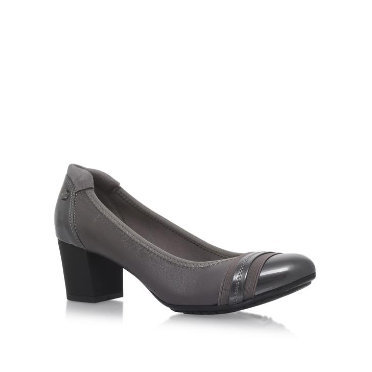 767ad9a1f8 Guardian Grey Mid Heel Court Shoes By Anne Klein | Kurt Geiger