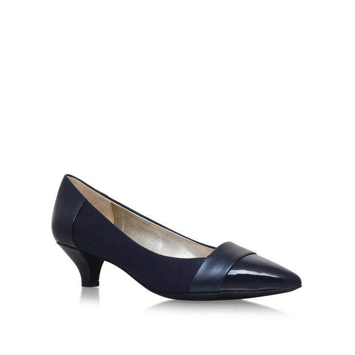 1b16d1f6919 Mckinley Navy Low Heel Court Shoes By Anne Klein