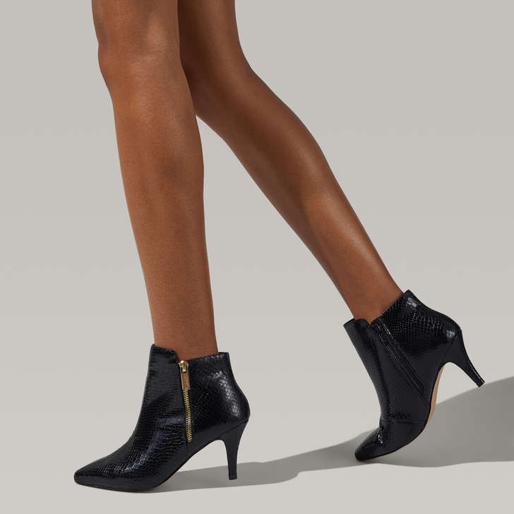 Sphinx Black Heeled Ankle Boot By