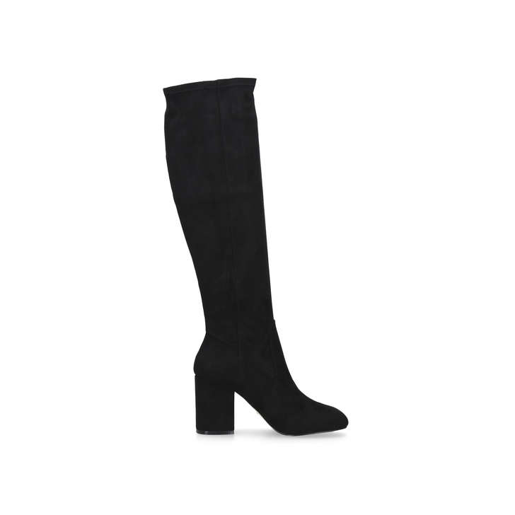 Black 'Harley2' mid heel over the knee boots free shipping 100% original DVhy1R