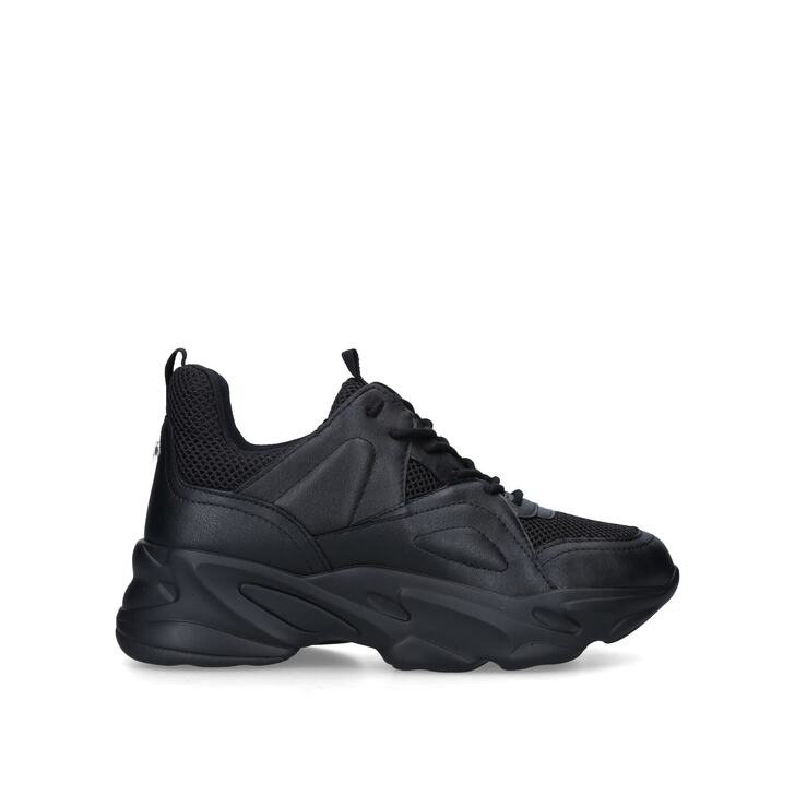 MOVEMENT Black Chunky Lace Up Sneakers