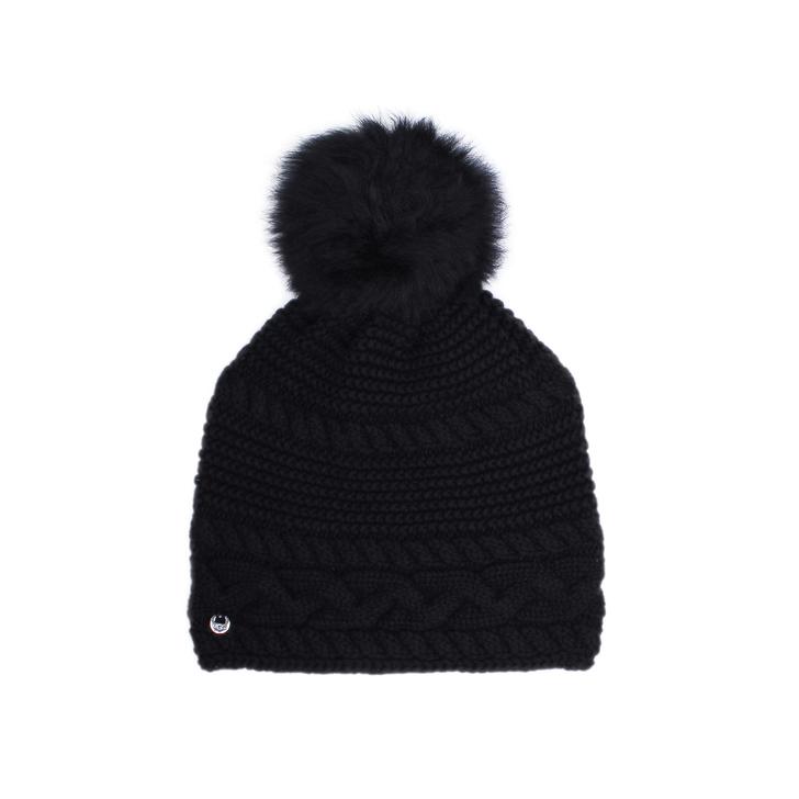 acb5245ccd5b2 Cable Beanie Toscana Black Beanie Pom Pom Hat By UGG
