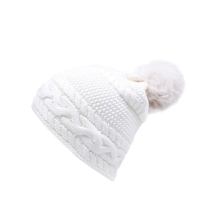 59fc1cfe415f5 Cable Beanie Toscana White Beanie Pom Pom Hat By UGG