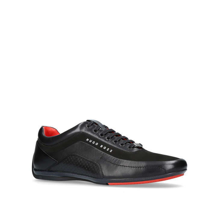 9b4366cc Hb Racing Sneaker Black Lace Up Trainers By Boss | Kurt Geiger