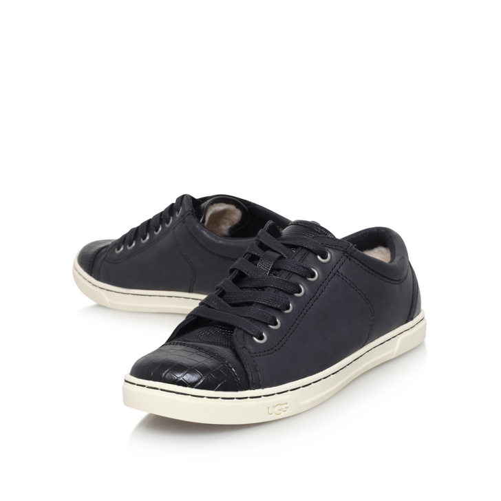 Discount Sale Ugg Taya Croco Trainers Womens Black Online Store