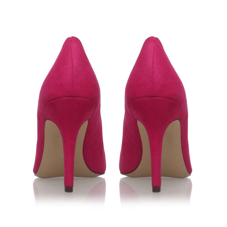 Flagship Pink Mid Heel Court Shoes By