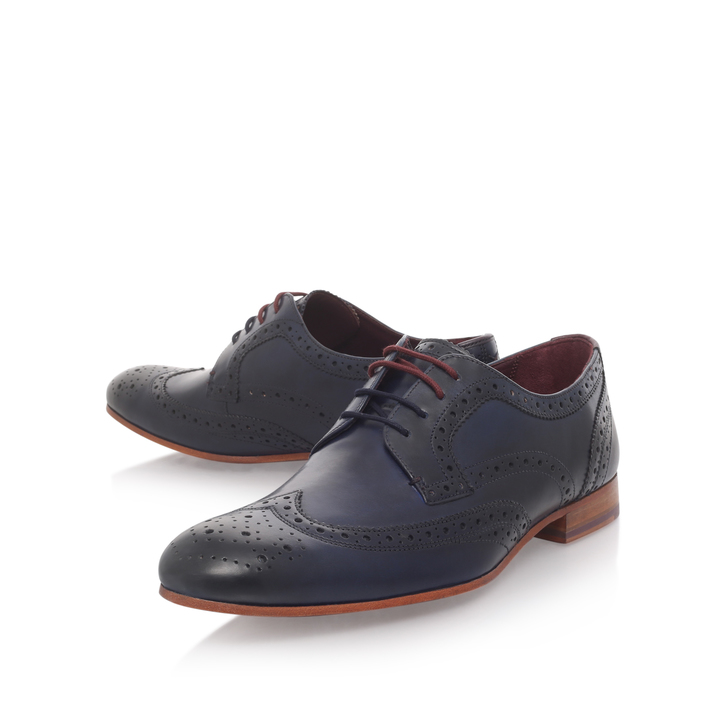 c77ed5454c7e Gryene Wc Derby Blue Brogue Shoes By Ted Baker
