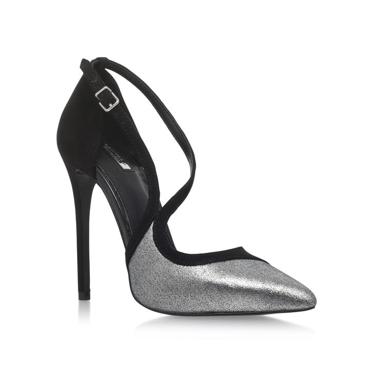 Asymmetric Heel Sandal - Black Kurt Geiger VwdHqs