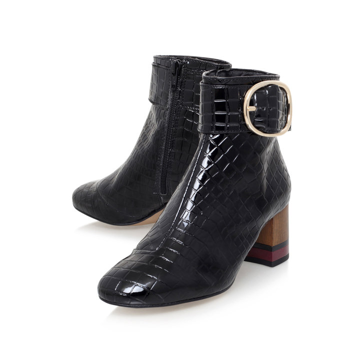Kurt Geiger Ringo - black mid heel ankle boots Discount Price Clearance Cheap Real mL3FoObg