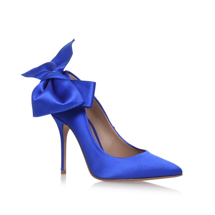 0bbdf9cb2ed70 Evie Blue High Heel Court Shoes By Kurt Geiger London